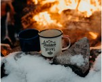 Tyler + Holly // Snowy Campfire engagement session