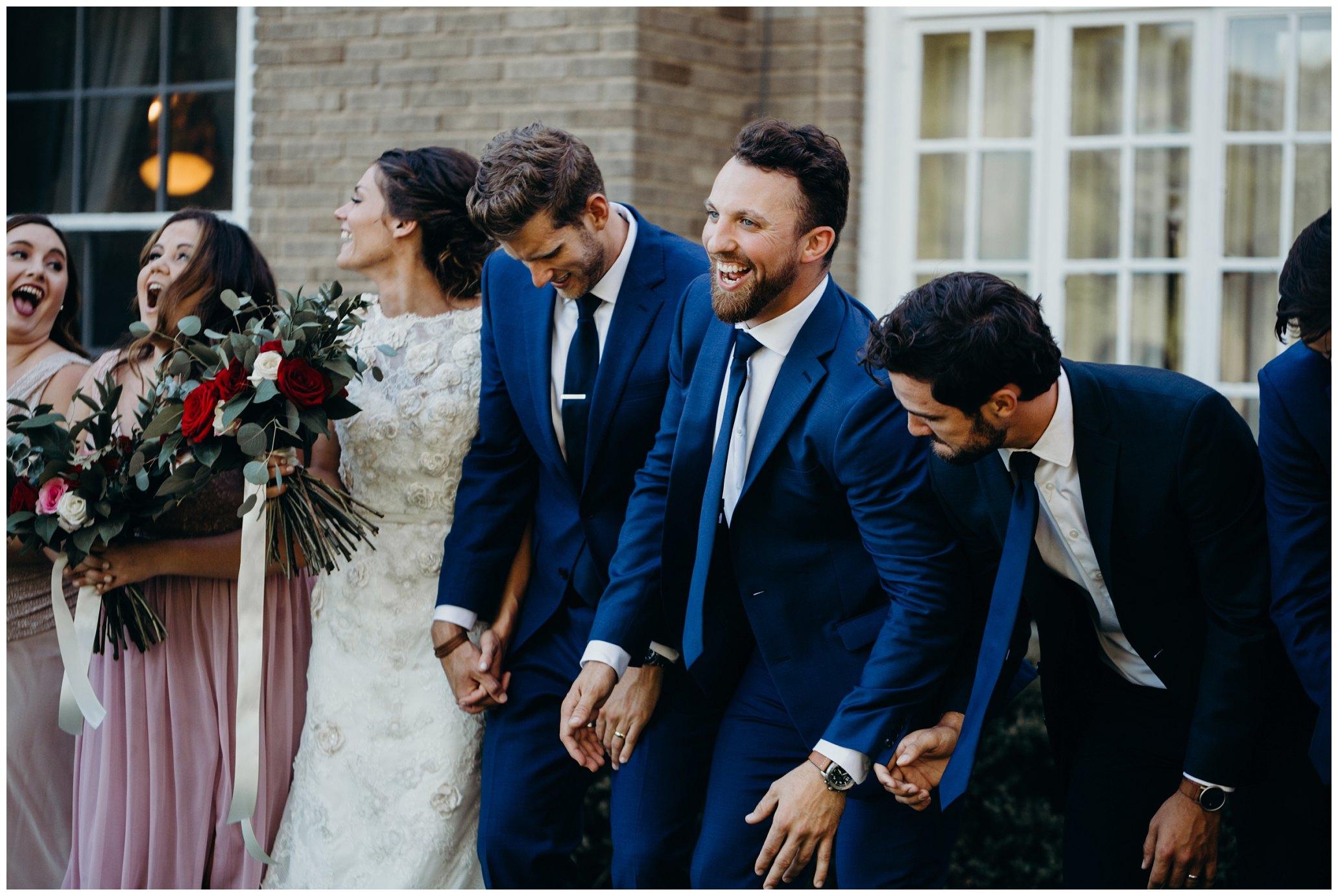 bridal party at felt mansion