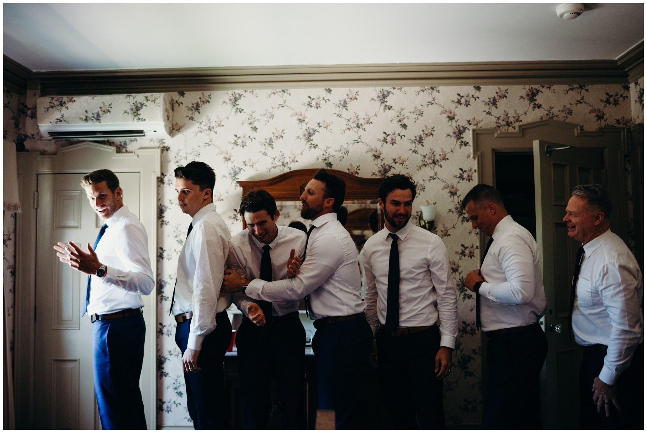 creative getting ready shots, groomsmen getting ready