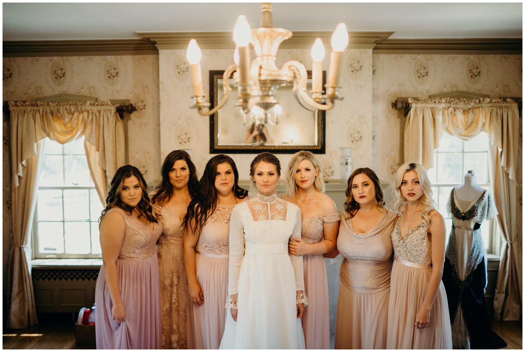 bridesmaids at felt mansion
