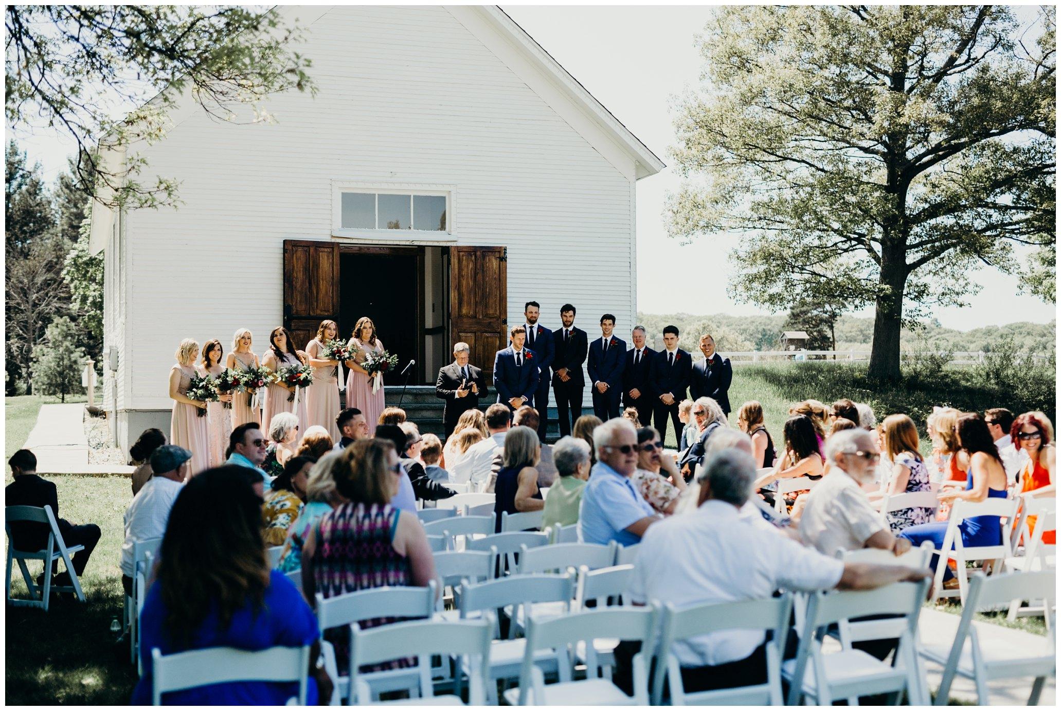 outdoor chapel wedding